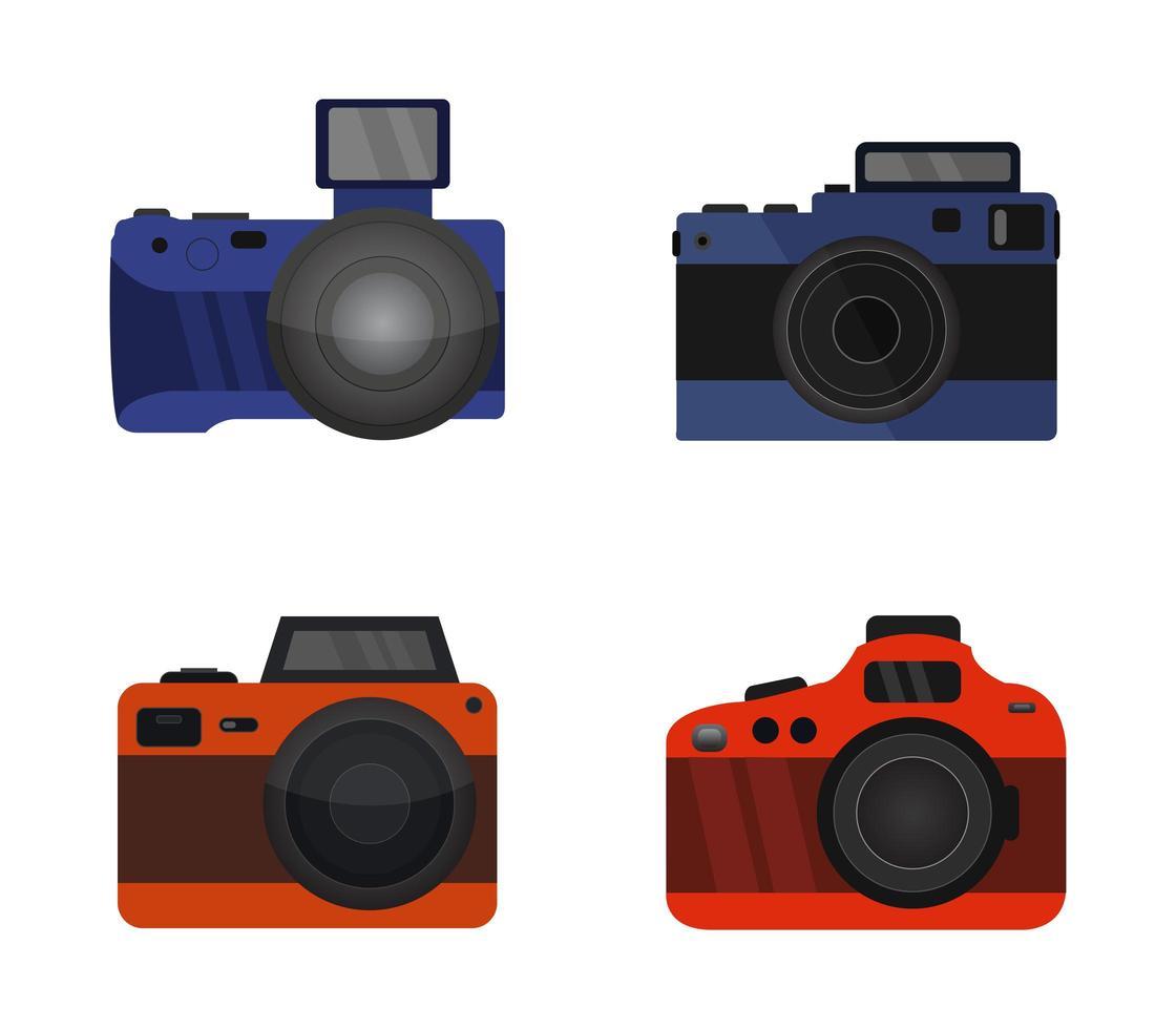 ensemble d'icônes de caméra vecteur