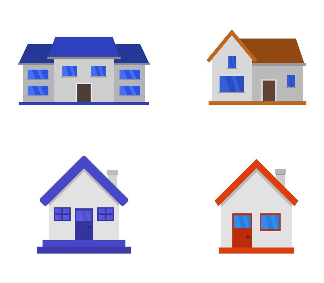 ensemble d'icônes de la maison vecteur