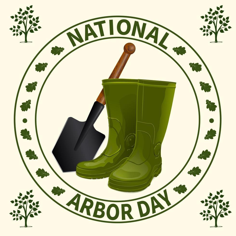 insigne de la journée nationale de la tonnelle vecteur