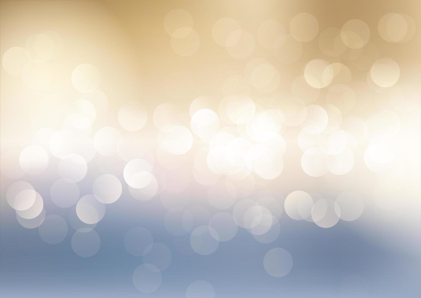 Fondo de luces bokeh azul y oro vector