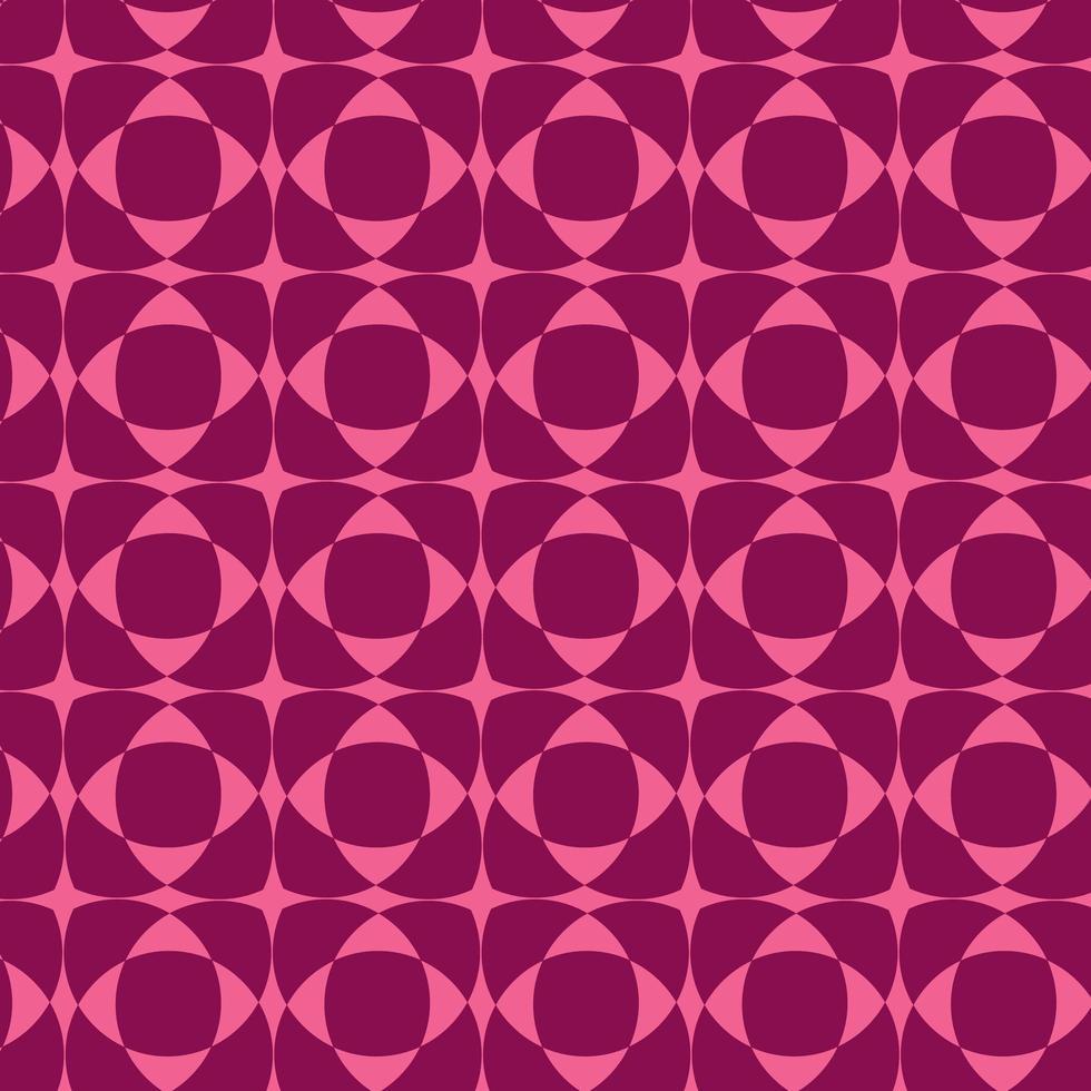 patrón retro geométrico rosa oscuro y claro vector
