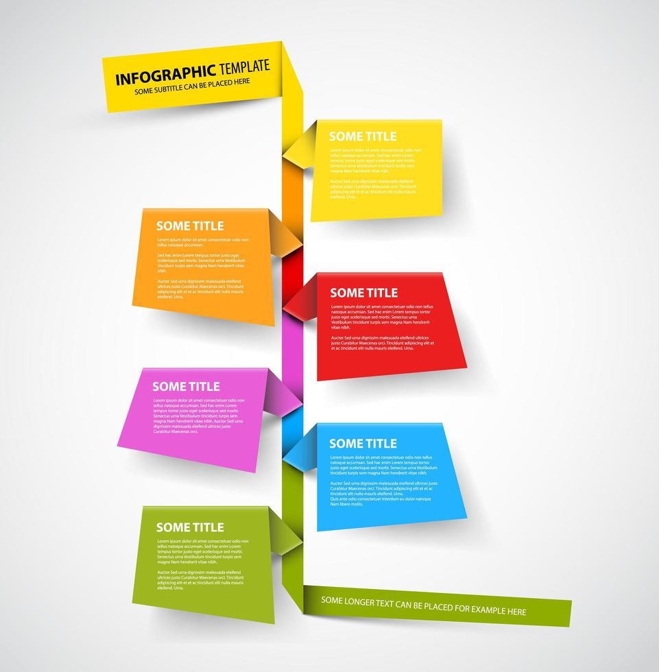 Carpeta colorida papel infografía vector