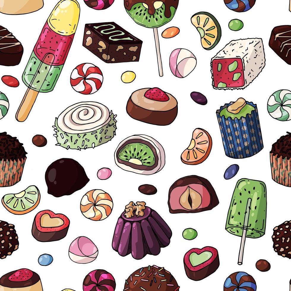 patrón transparente de caramelo multicolor vector