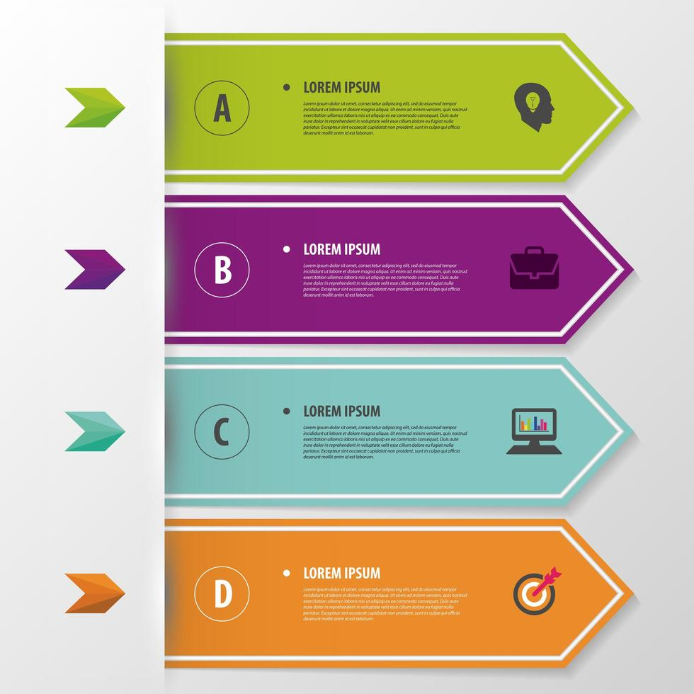 flecha colorida infografía vector