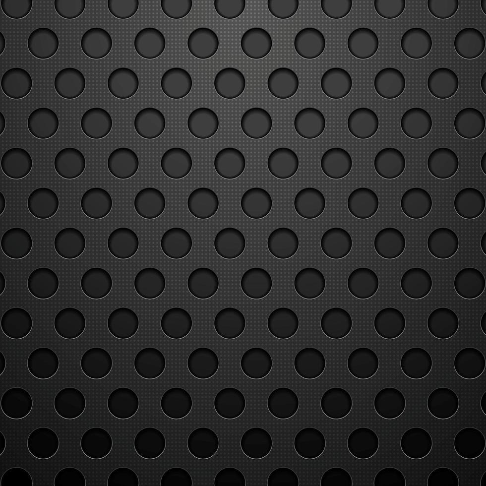 donkere cirkels metalen achtergrond vector