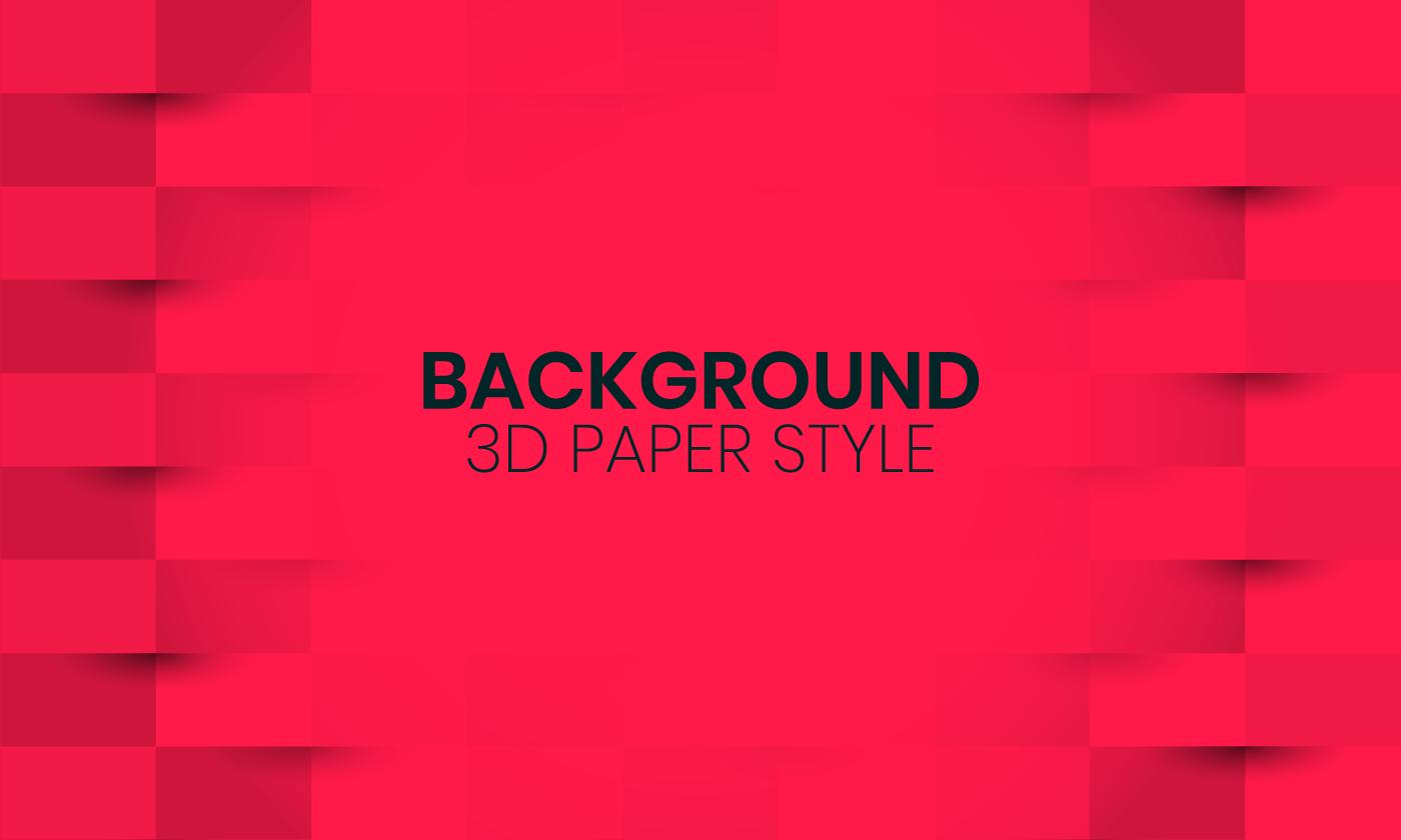 fondo rojo con estilo de corte de papel vector