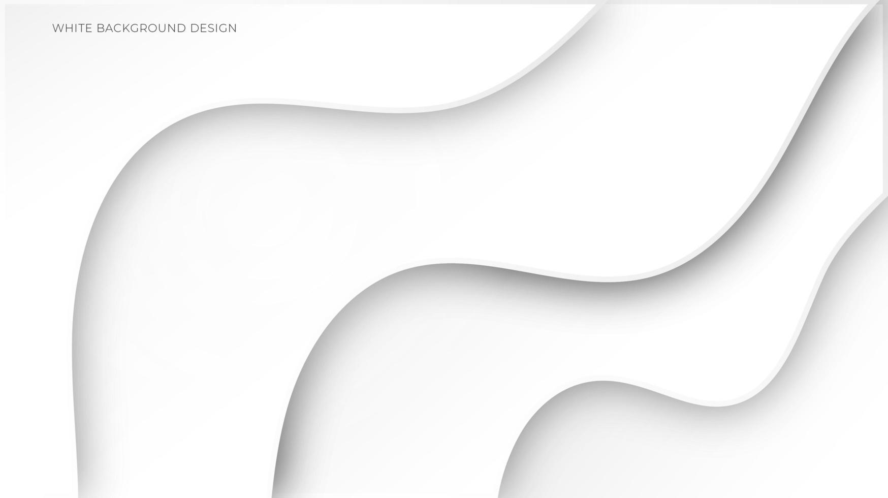 Fondo de forma curva abstracta blanca vector