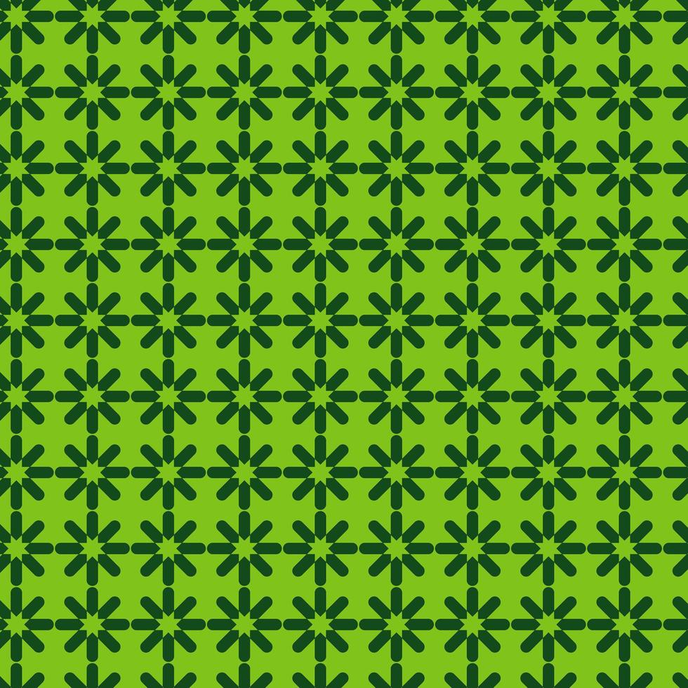 patrón de estrella geométrica verde brillante vector