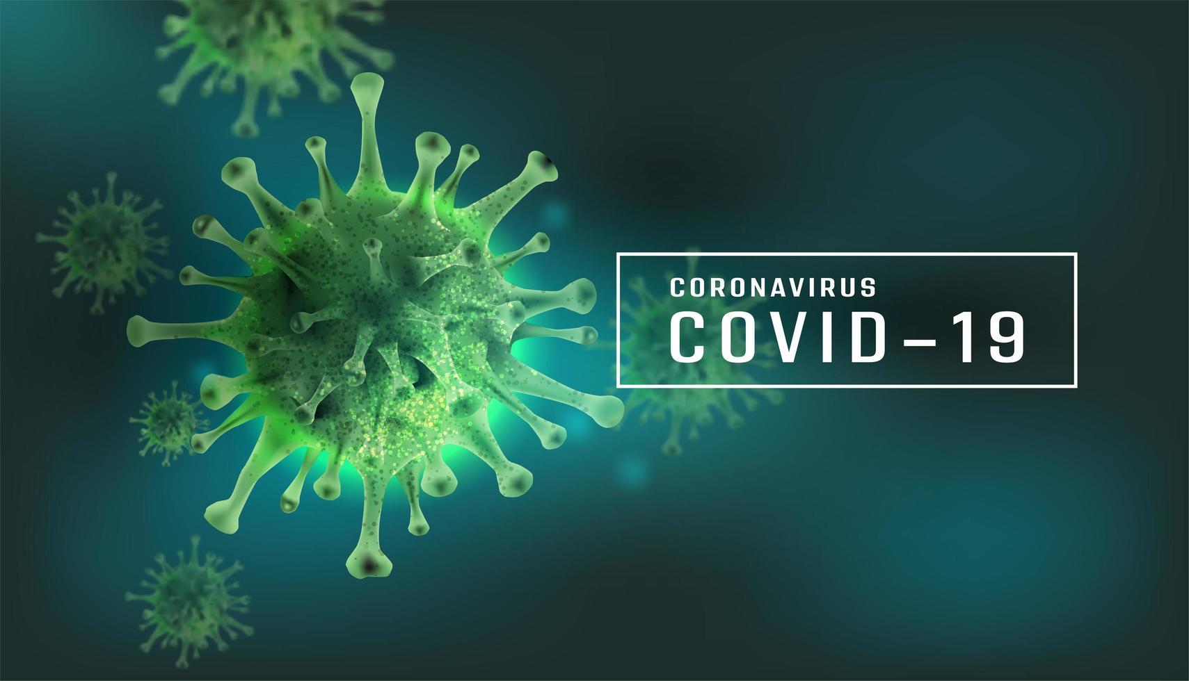 póster con elemento coronavirus para uso médico vector