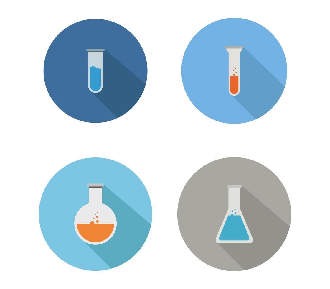 conjunto de iconos de ciencia vector