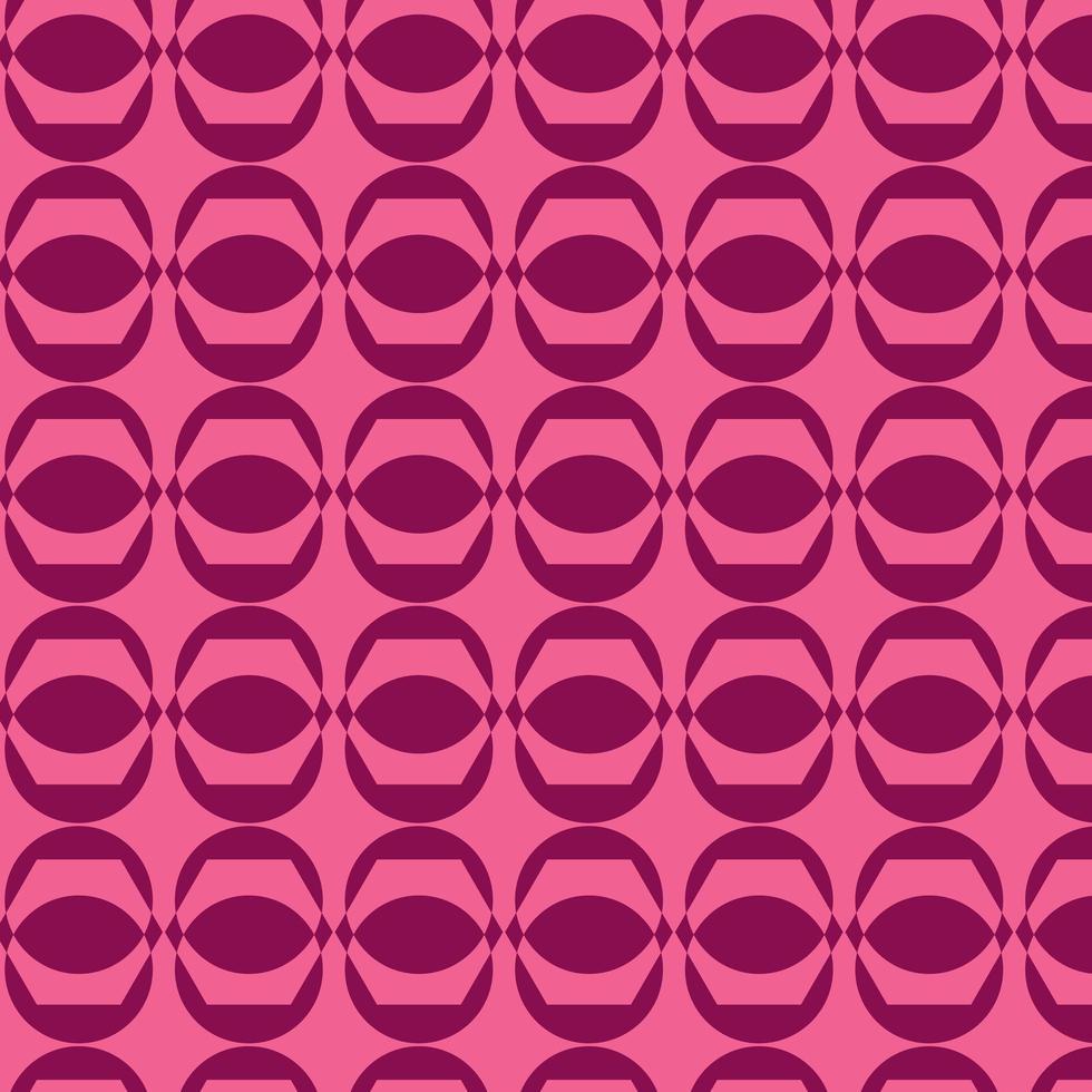 patrón geométrico rosa retro vector