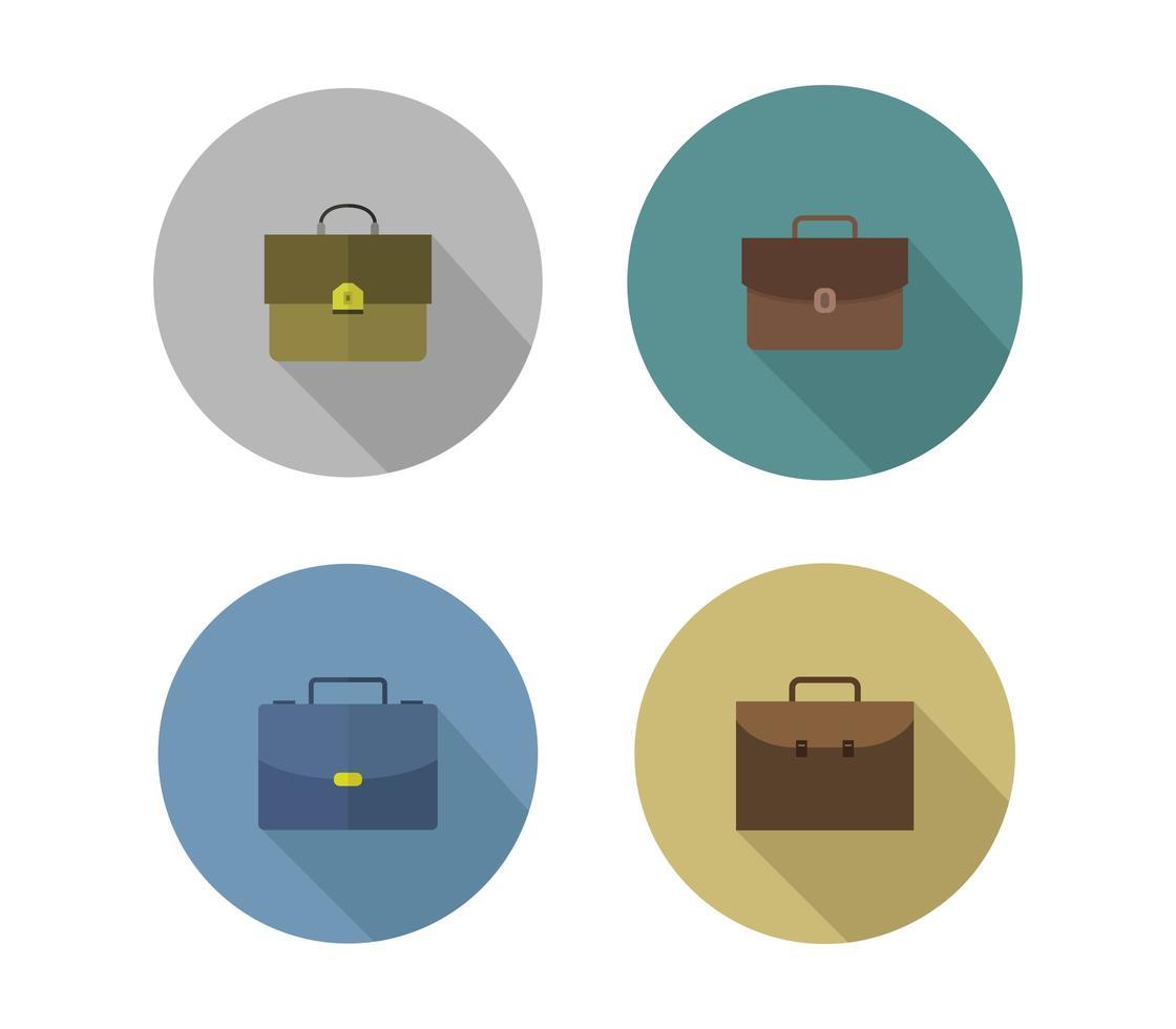 conjunto de iconos de maletín vector