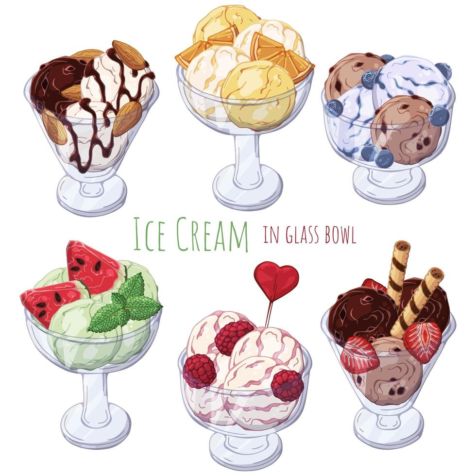 groep ijslepels vector
