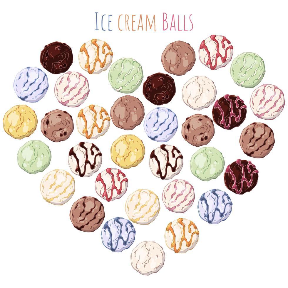 bolas de sorvete vetor