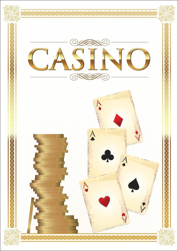 fondo retro casino vector