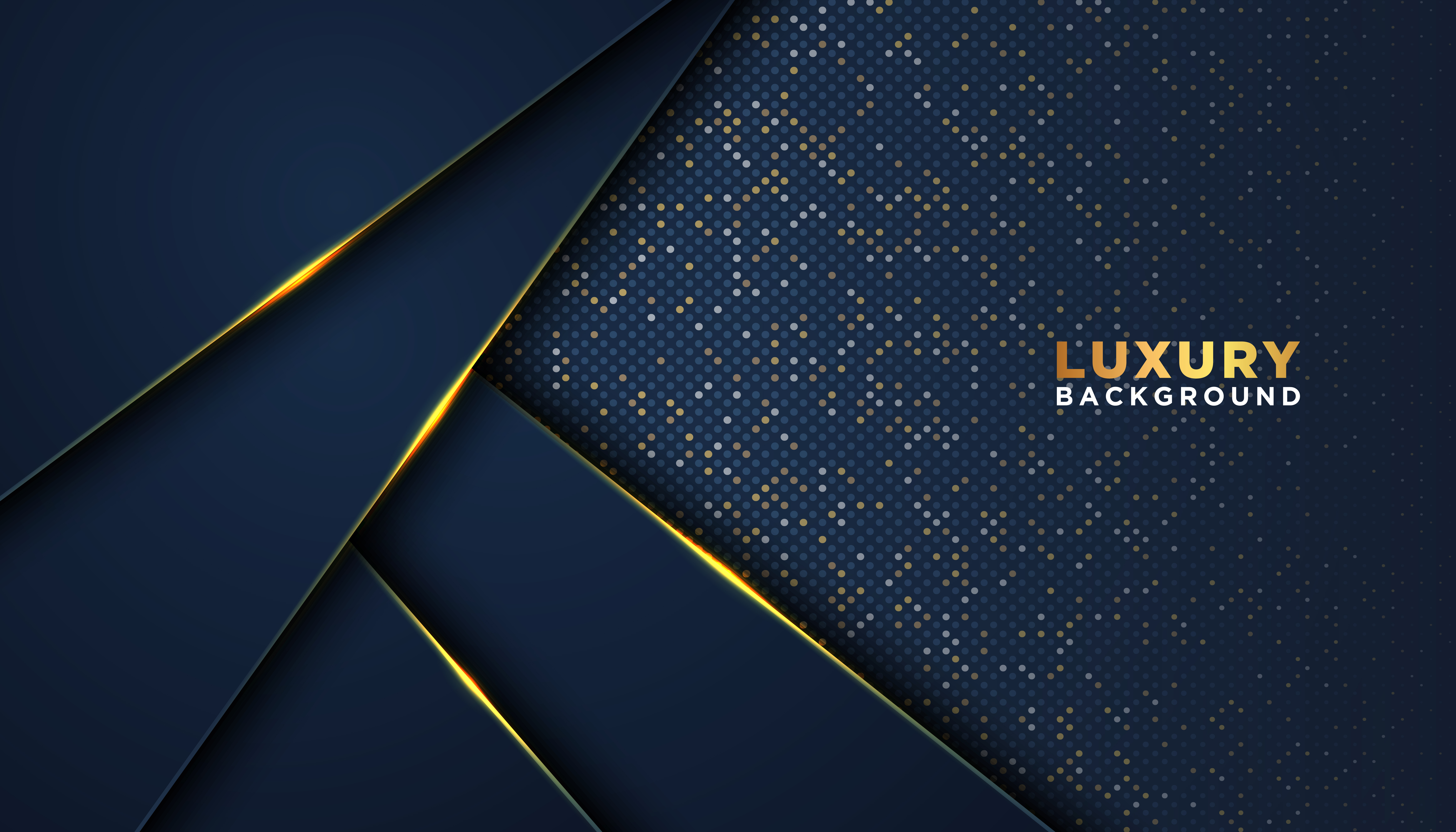Dark Blue with Gold Accents Luxury 3D Background ...