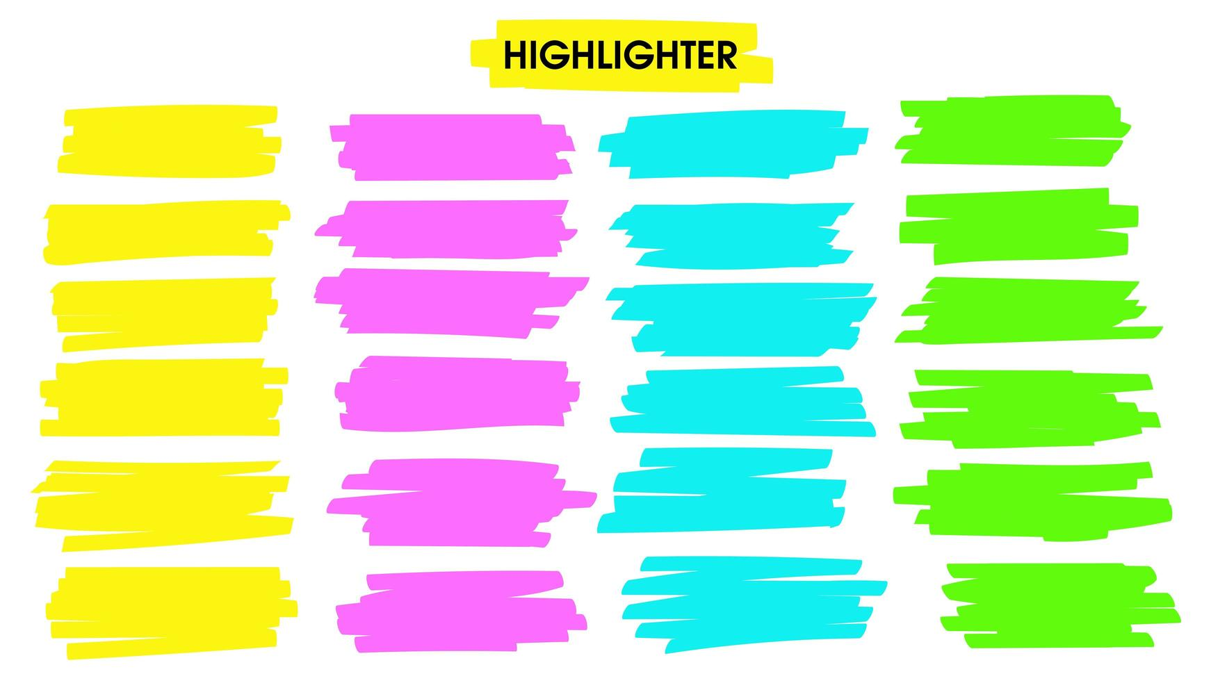 Highlight brush lines vector