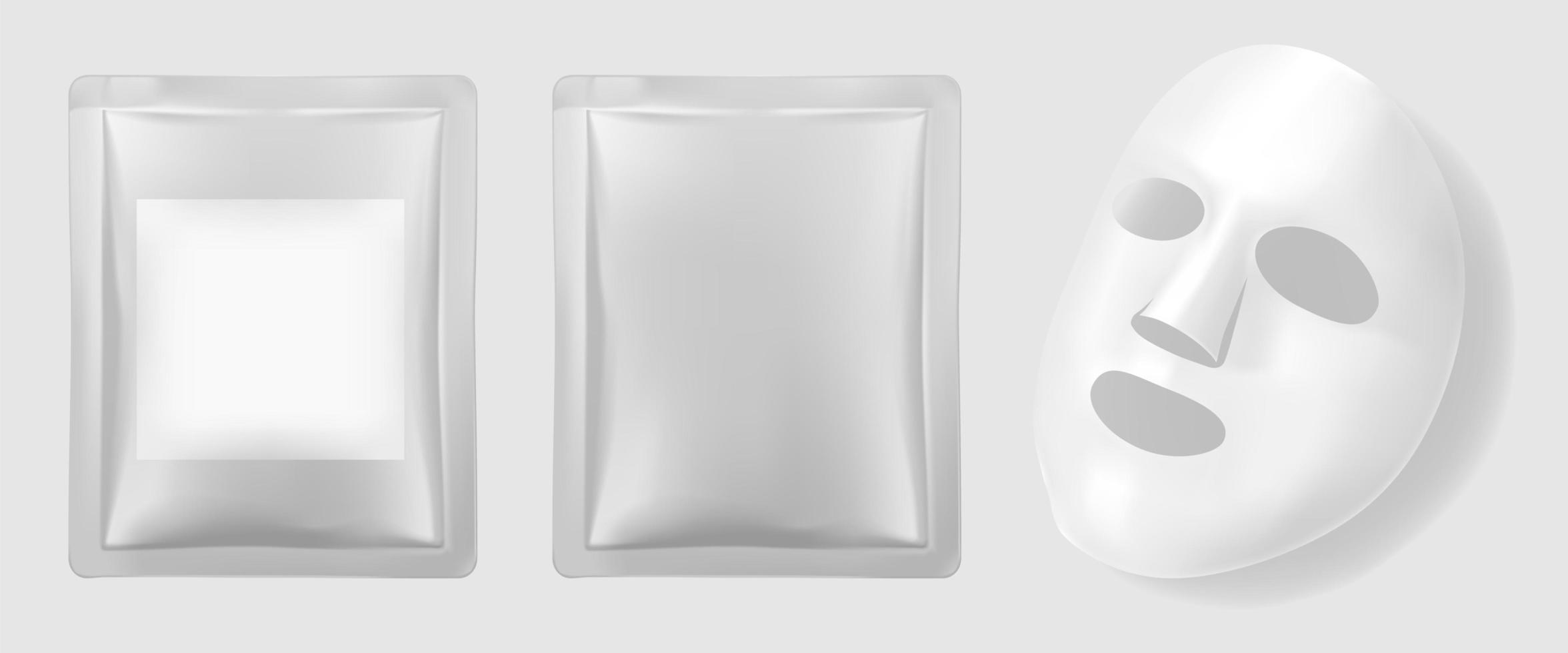 embalaje de mascarilla facial vector