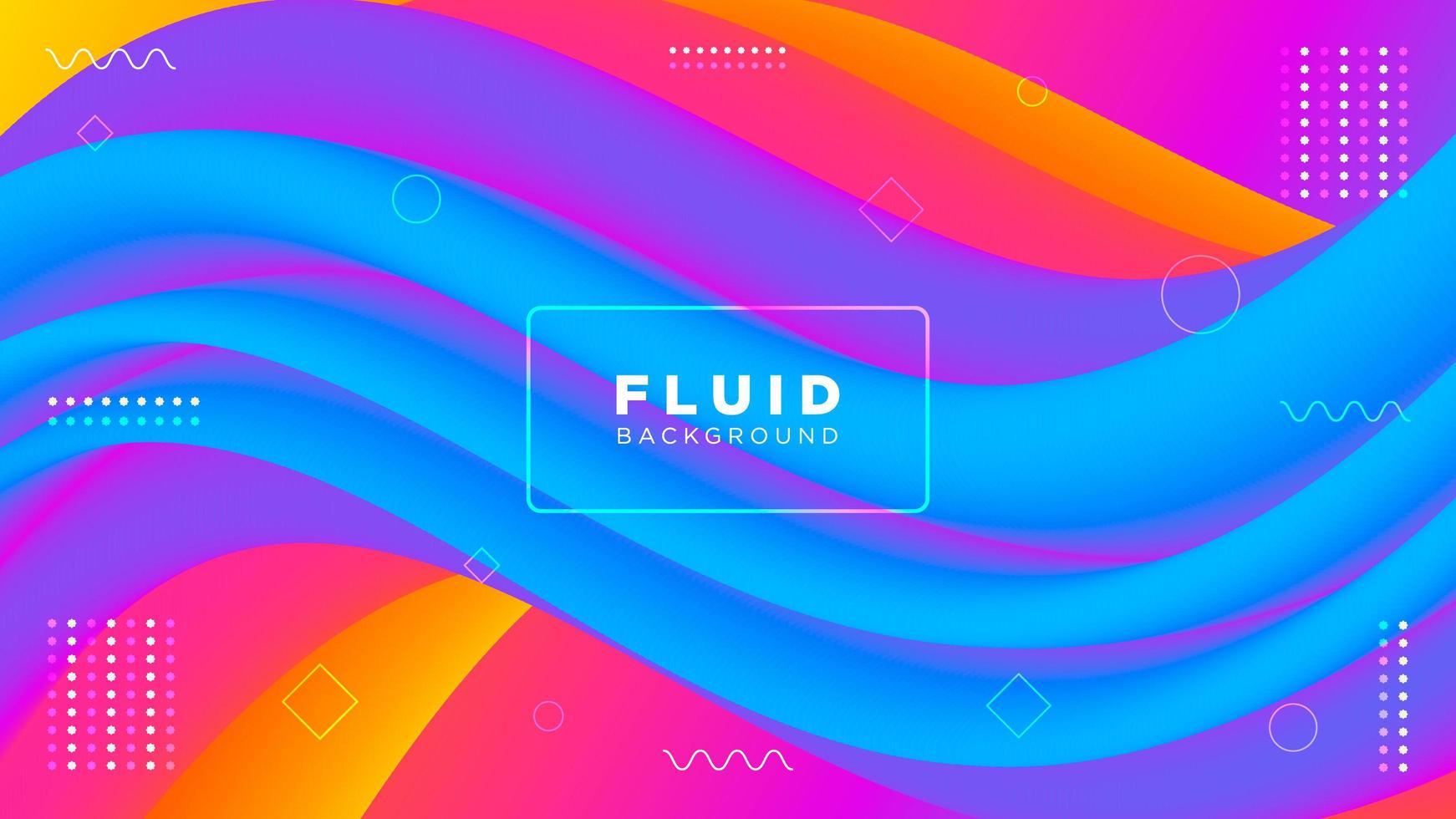 Fondo fluido moderno colorido abstracto vector