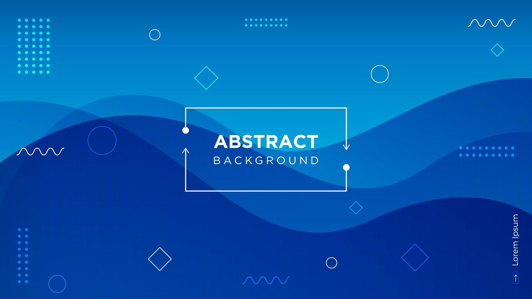 Modern Blue Abstract Wavy Background vector
