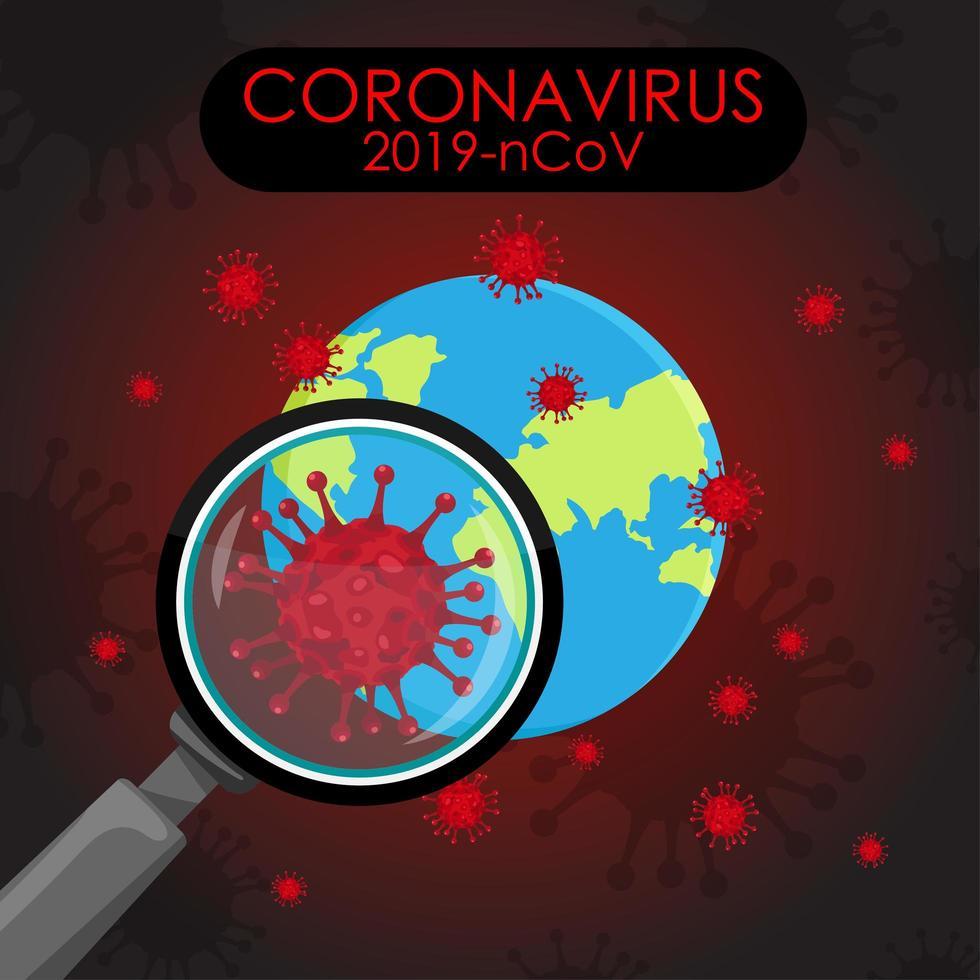cartel de pandemia de coronavirus global vector