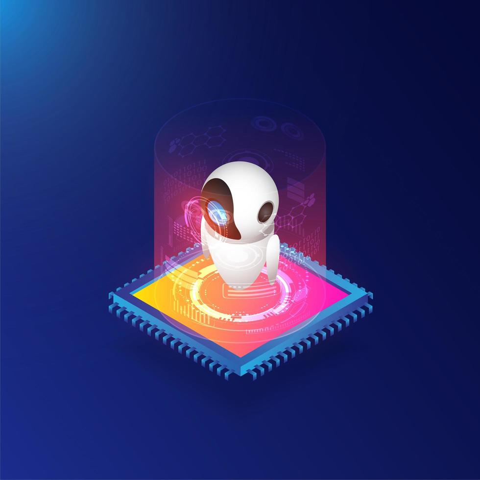 Isometric Artificial Intelligence with Chip vector