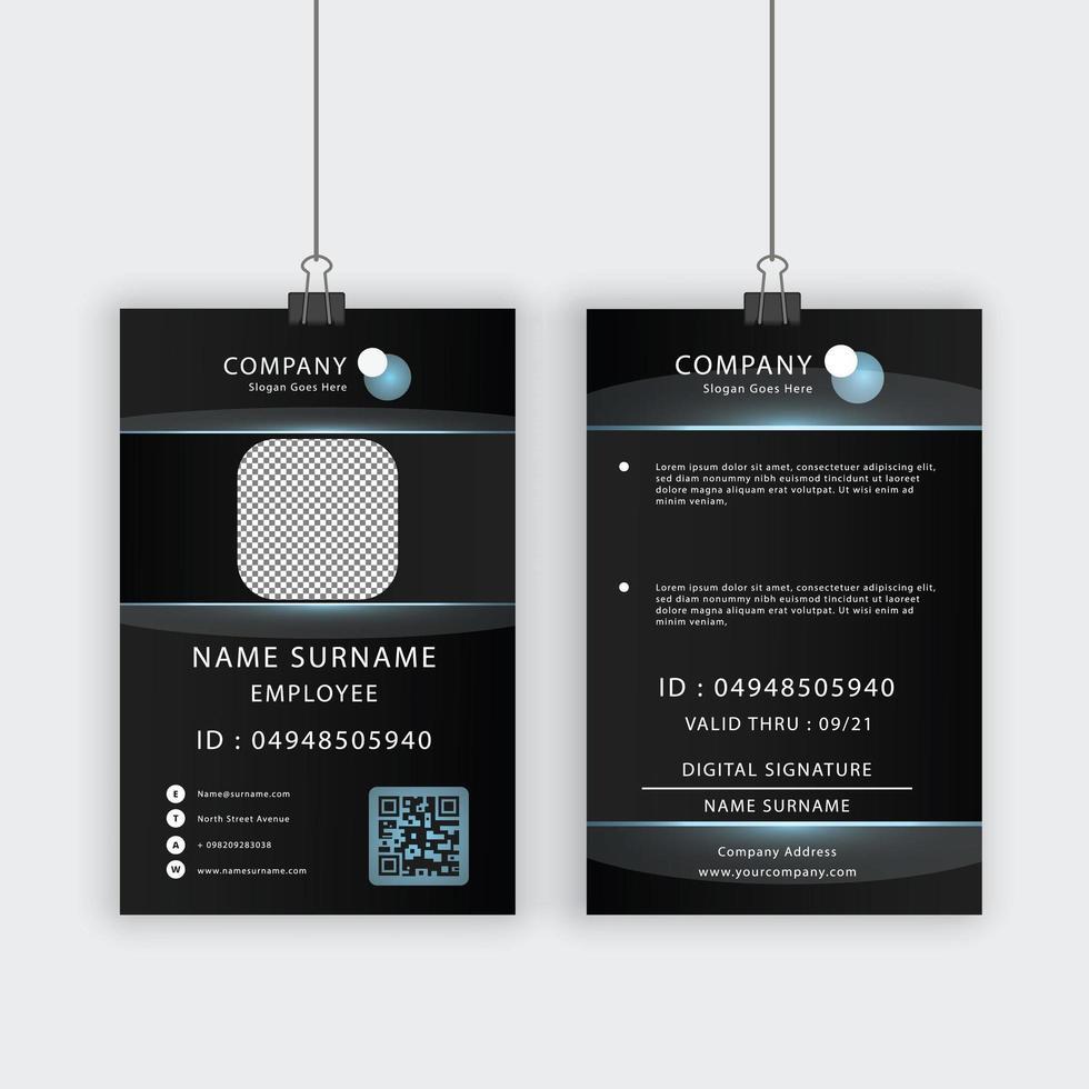 Profilausweisvorlage mit transparenten Blasen vektor