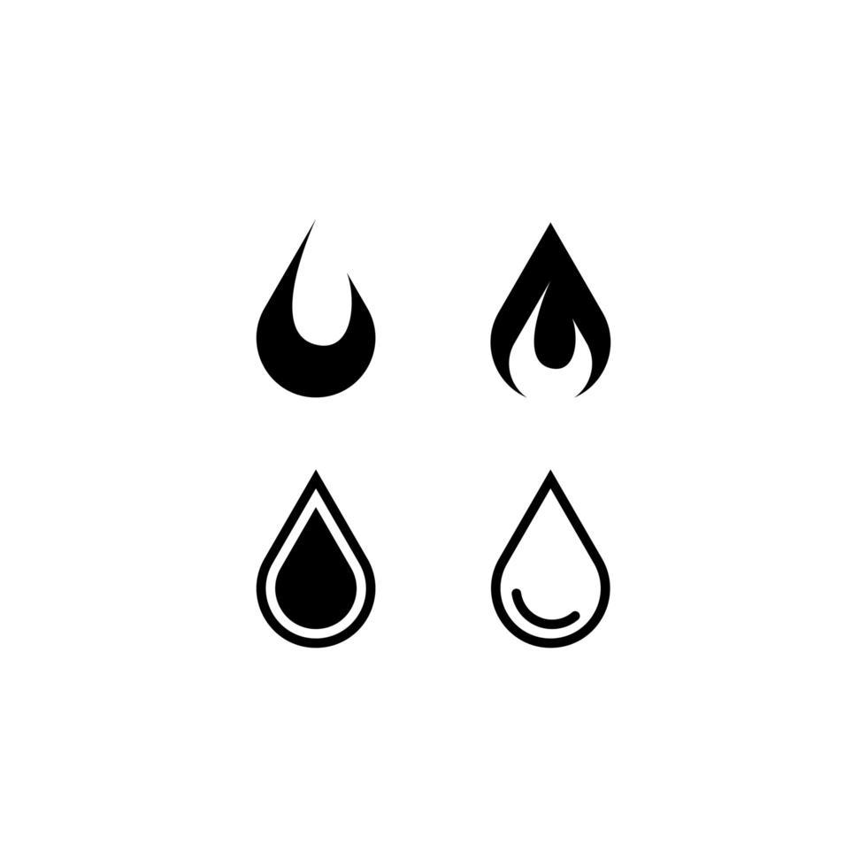 set di icone di olio vettore