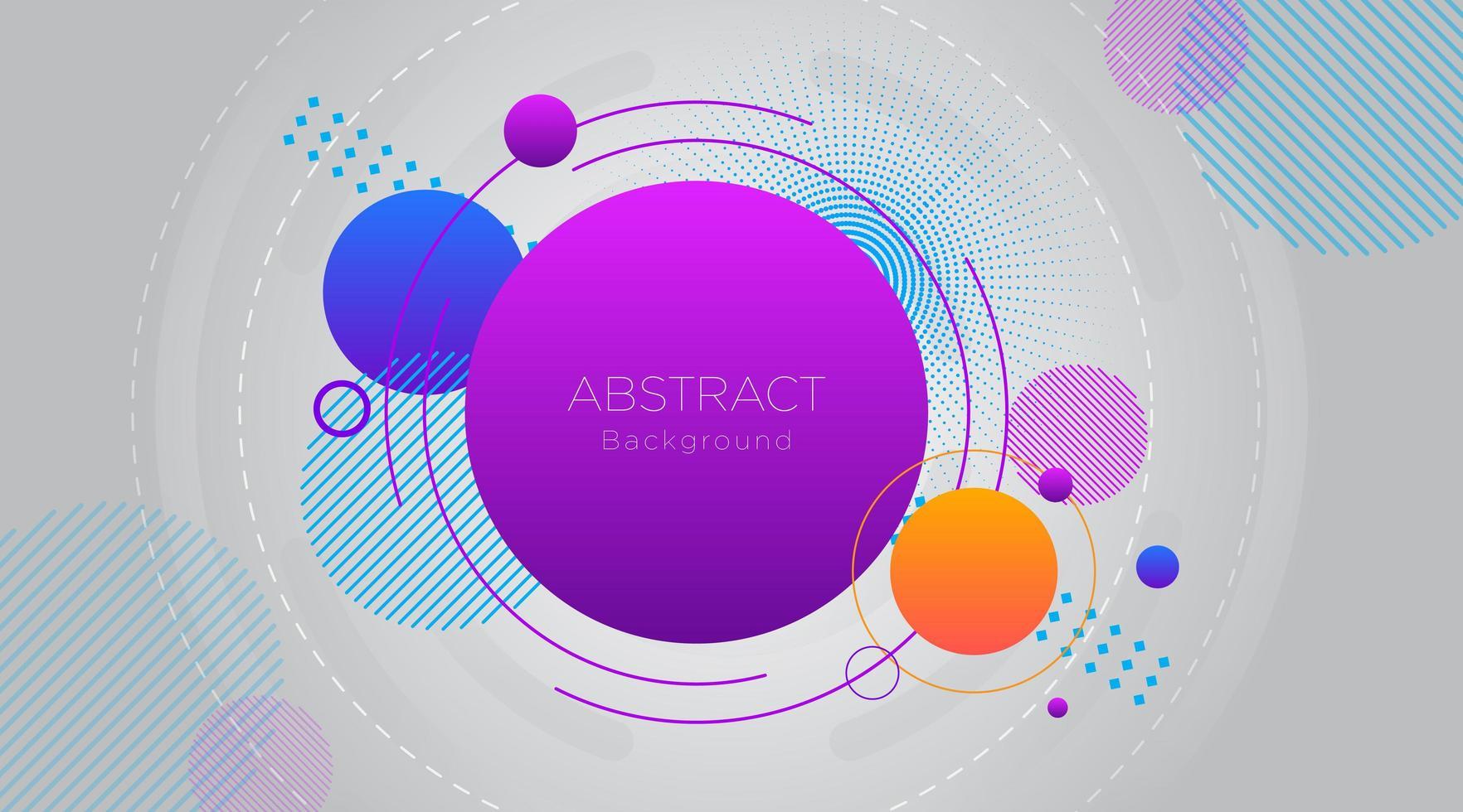 meerdere kleurrijke cirkels op grijze achtergrond vector