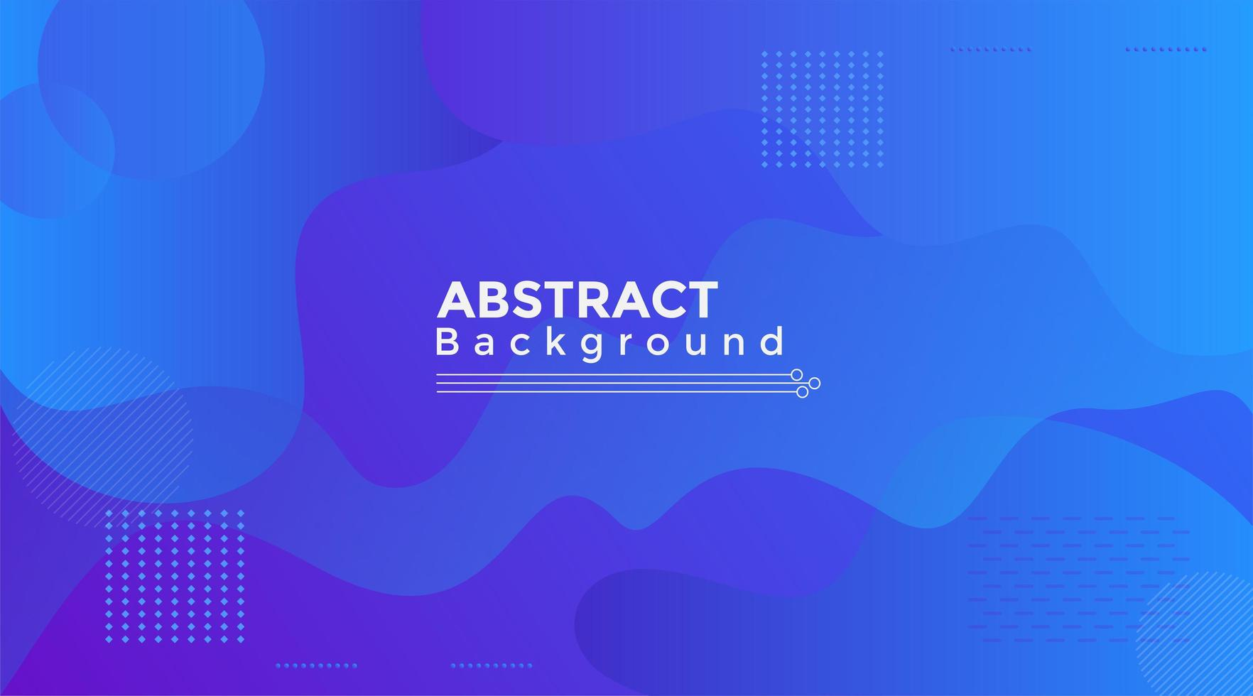 Fluid Abstract Shape Purple and Blue Background vector