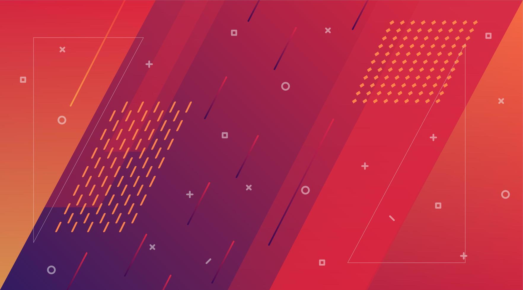 diagonale vormen paars en oranje verloop achtergrond vector