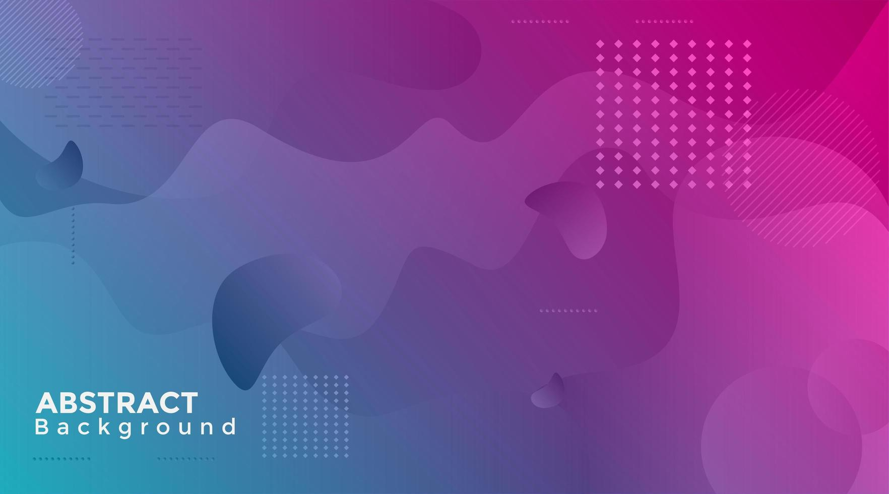 Cyan and Pink Gradient Abstract Shape Background vector