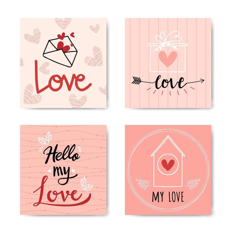 feliz dia dos namorados mão com letras conjunto de fundo vetor