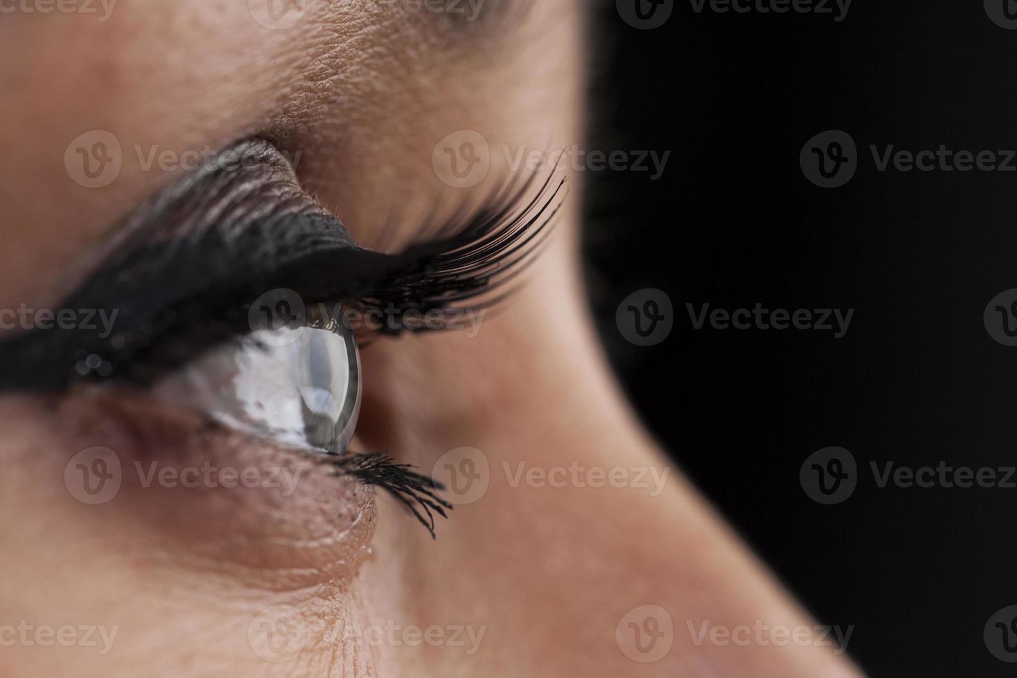 ojo de cerca foto