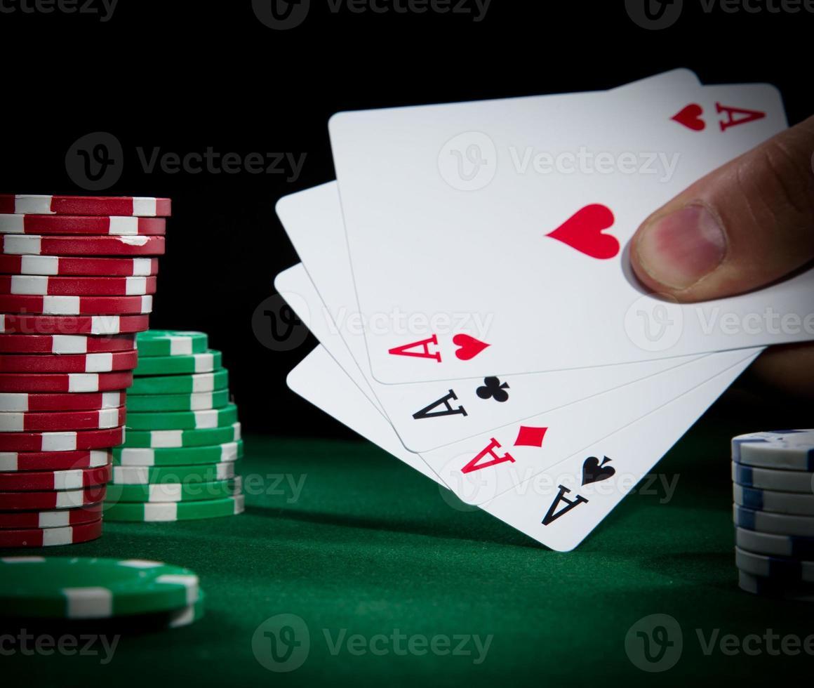 Poker close-up photo