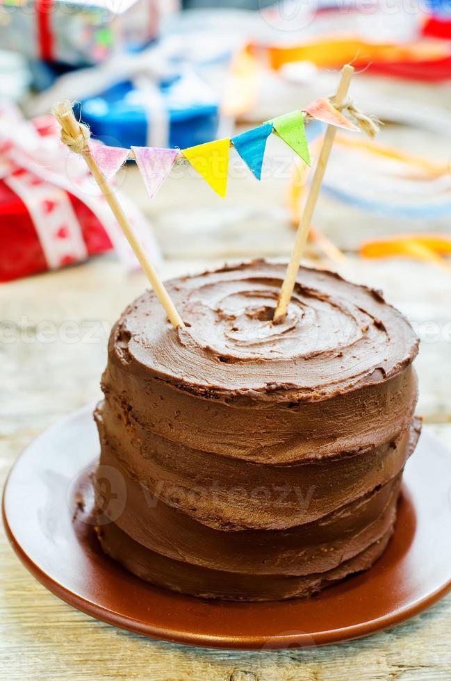 chocolate birthday cake photo