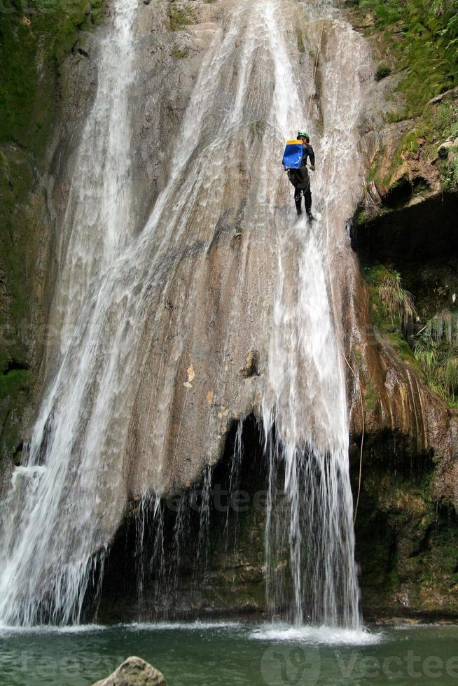 canyoning in the fench alps photo