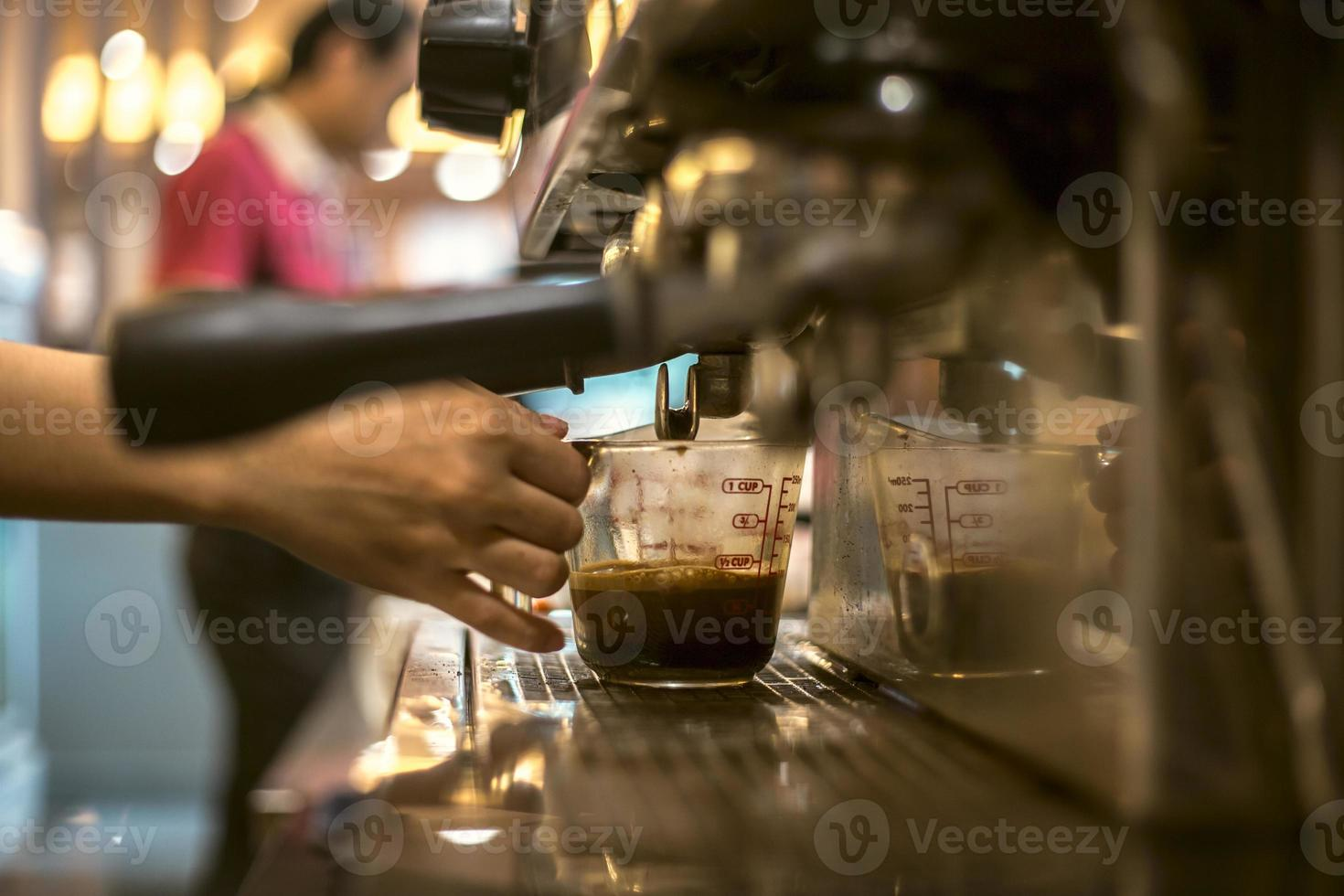 Coffee machine, close up photo
