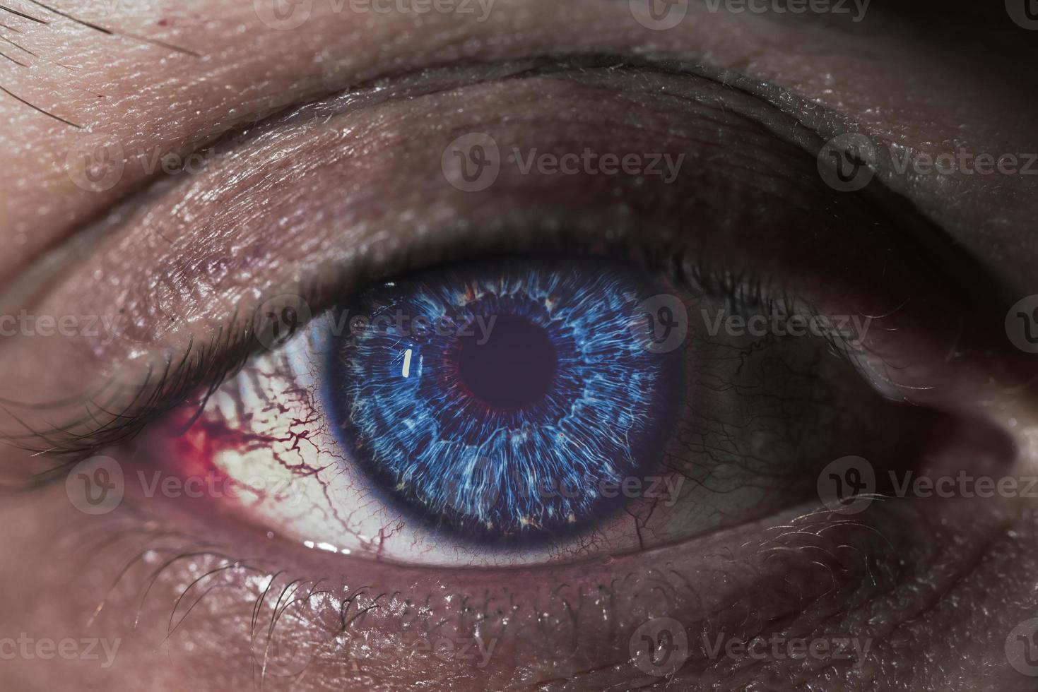 primer plano del ojo foto