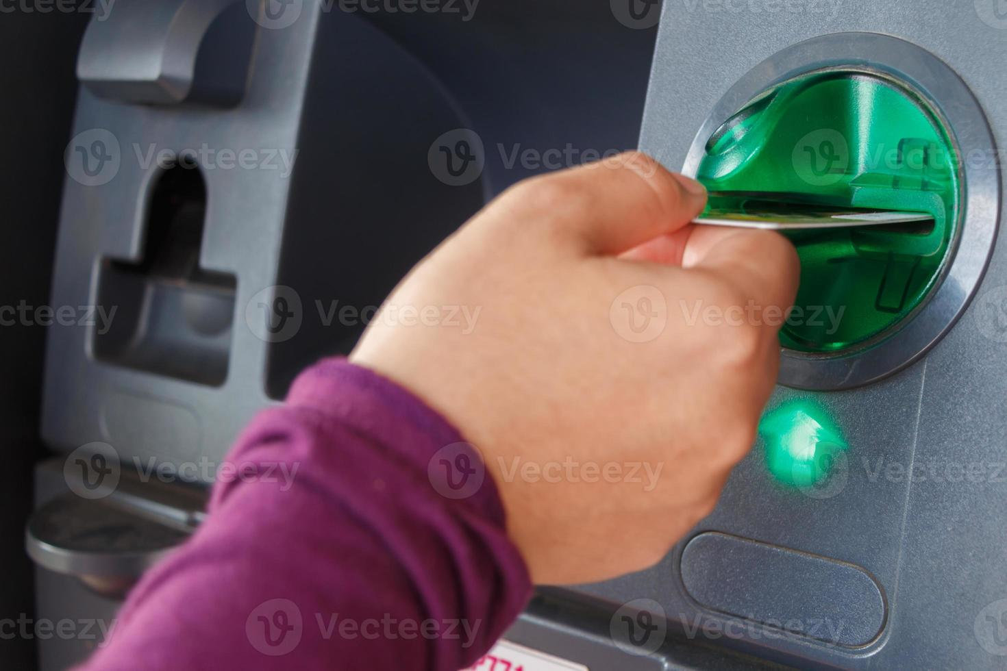 ATM close-up photo