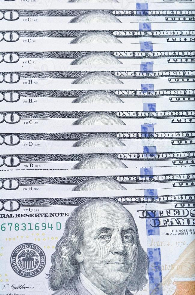 100 USD close-up photo