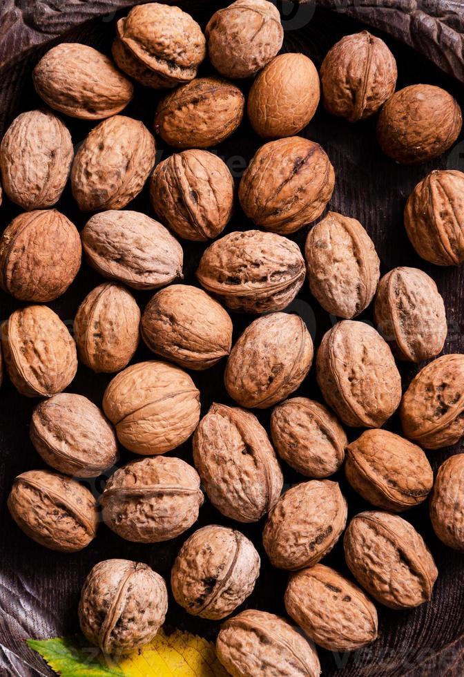 Close up of walnuts photo