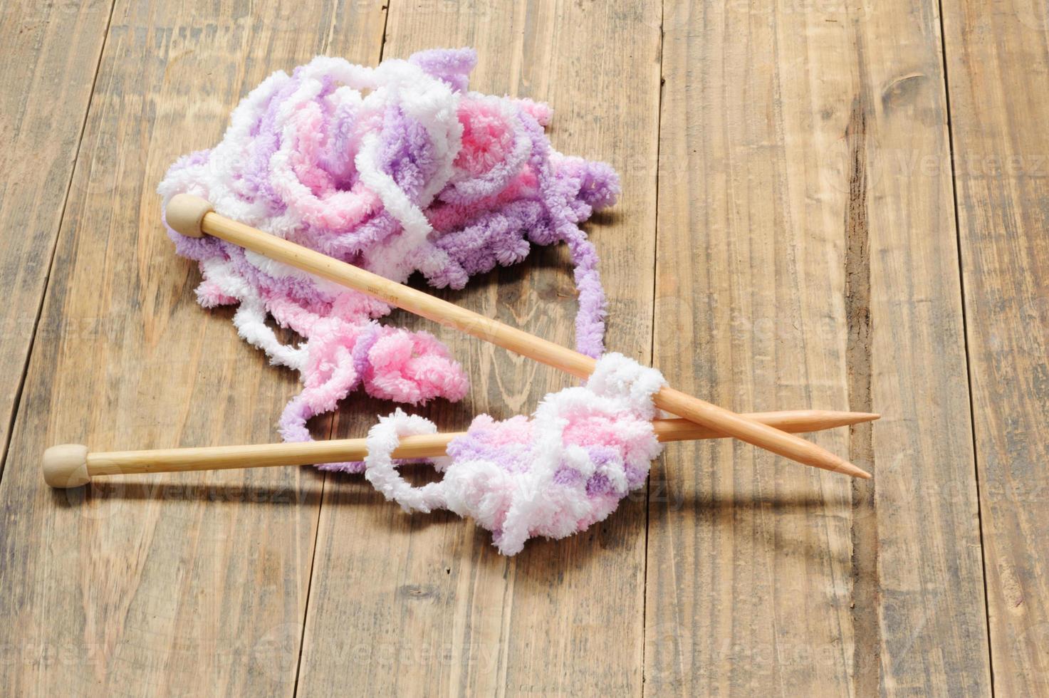 Close up knit wool photo