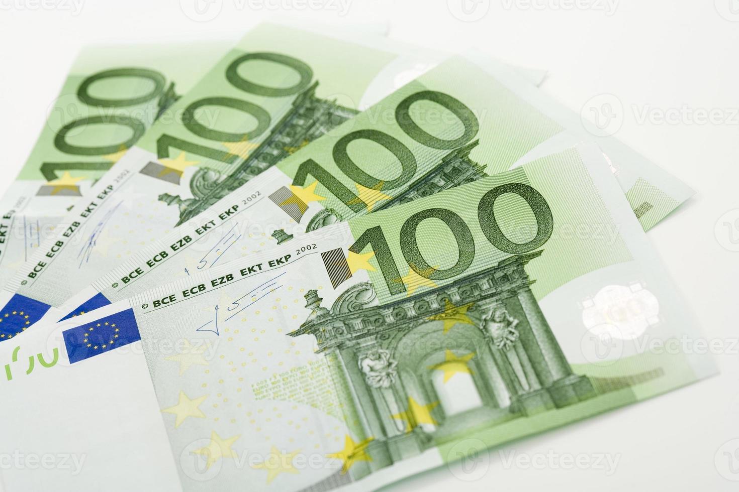 Euro notes, close up photo