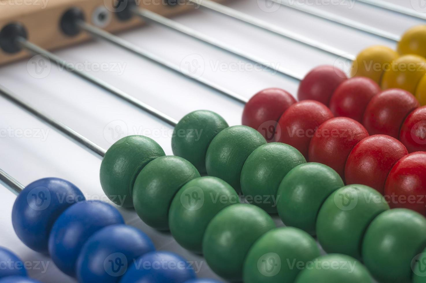 Close up wooden abacus photo