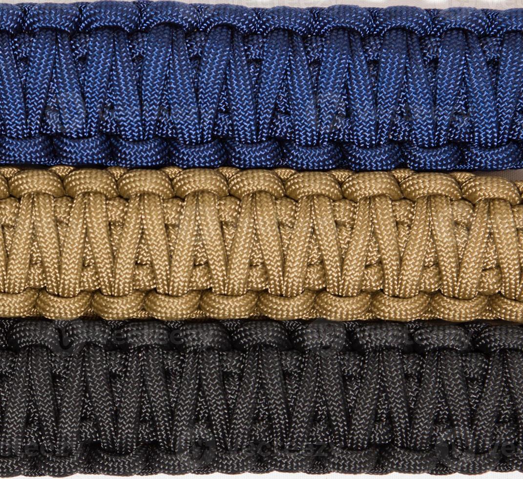 Security  bracelets close up photo