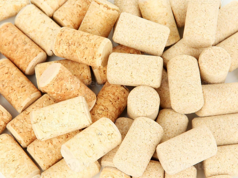 Wine corks close up photo