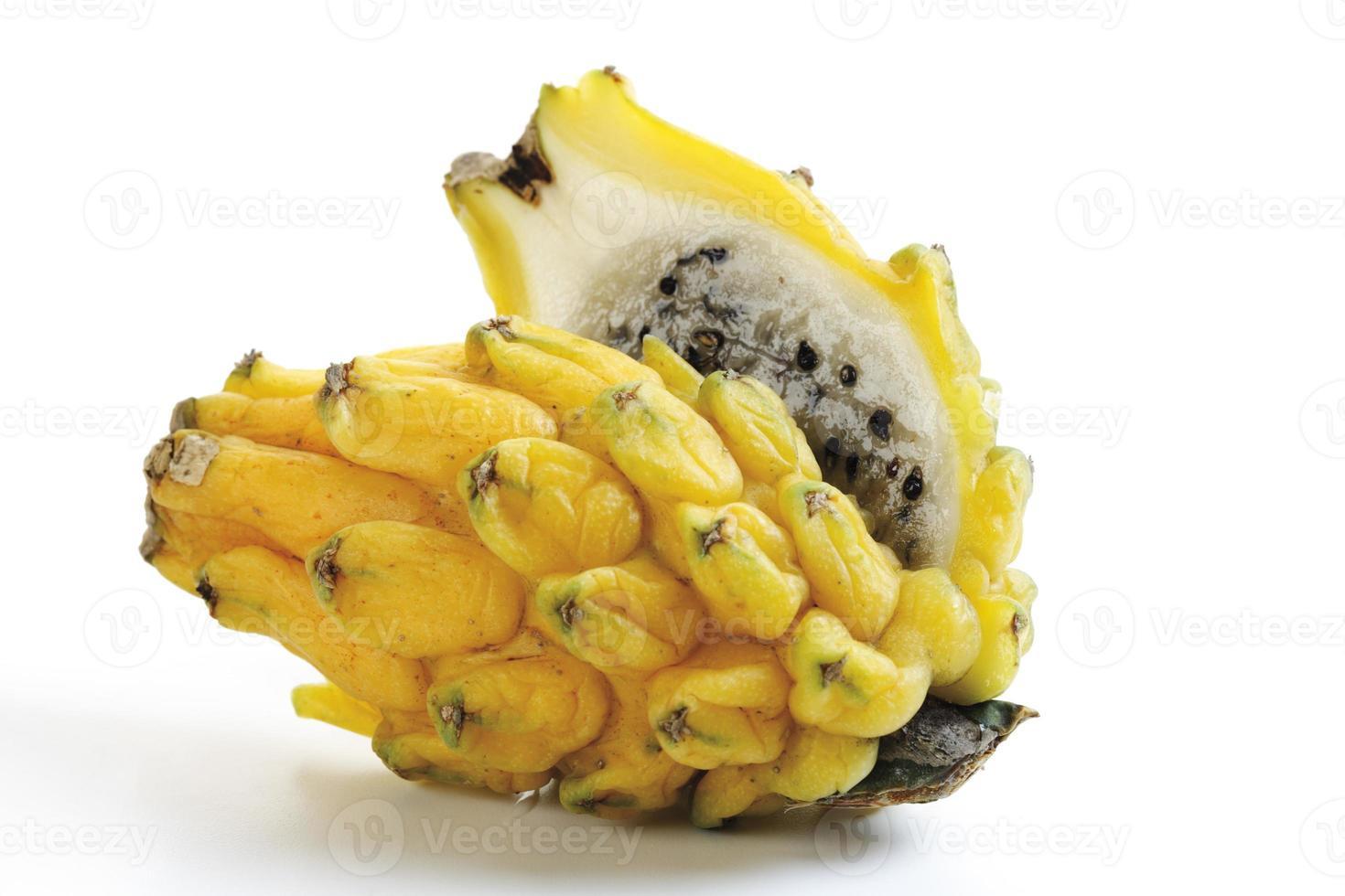 Yellow pitahaya, close-up photo