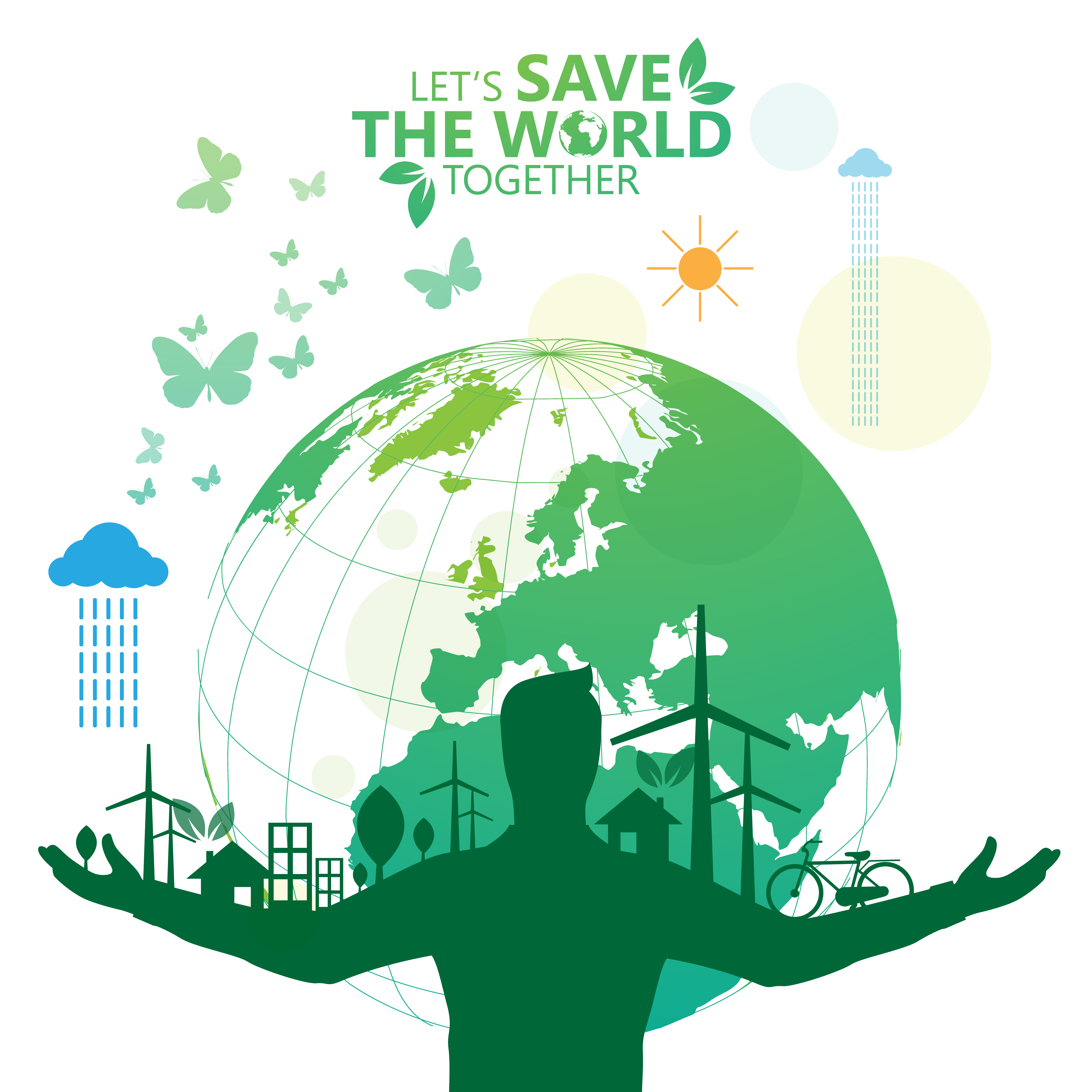 Save the World Green Environmental Poster - Download Free ...