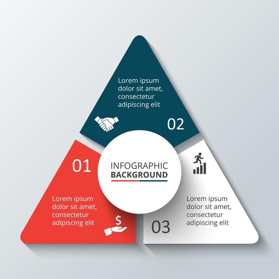 Modern Triangular Business infographic  vector